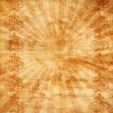 Uitstekende achtergrond met zonnestraal en ornament Royalty-vrije Stock Foto's