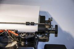 Uitstekende achtergrond Oude schrijfmachine royalty-vrije stock afbeelding