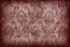 Uitstekende achtergrond van oud bruin behang Stock Fotografie