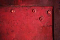 Uitstekende achtergrond van rode grungy textuur Stock Foto