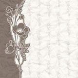 Uitstekende achtergrond voor de uitnodiging met bloemen Royalty-vrije Stock Foto