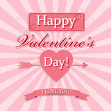 Uitstekende achtergrond voor Valentijnskaartendag Royalty-vrije Stock Foto's