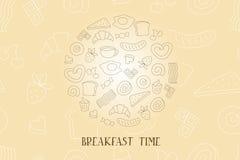 Uitstekende Affiche - Ontbijt stock illustratie