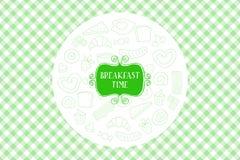 Uitstekende Affiche - Ontbijt royalty-vrije illustratie
