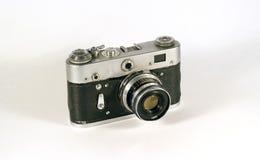 Uitstekende afstandsmetercamera die over wit wordt geïsoleerdn Royalty-vrije Stock Fotografie