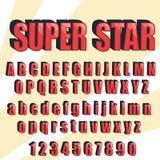 Uitstekende alfabet vectordoopvont Oude stijllettersoort Royalty-vrije Stock Afbeeldingen
