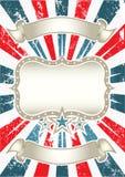 Uitstekende Amerikaanse Achtergrond Royalty-vrije Stock Afbeeldingen