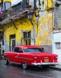 Uitstekende Amerikaanse auto in Havana Royalty-vrije Stock Afbeelding