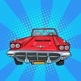 Uitstekende Amerikaanse auto Retro voertuig Pop-art stock illustratie