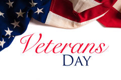 Uitstekende Amerikaanse Vlag voor Veteranendag royalty-vrije stock foto's
