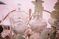 Uitstekende antieke glasvaas met patrooneffect Royalty-vrije Stock Foto