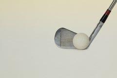 Uitstekende, antieke golfbestuurder stock fotografie