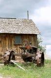 Uitstekende antieke oude tractor. Stock Foto