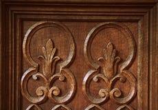 Uitstekende antieke van de het patroonoppervlakte van het houtsnijwerkdetail grunge abstracte de textuurachtergrond stock foto's