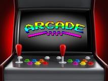 Uitstekende arcademachine Stock Foto's