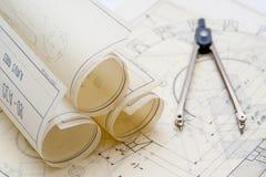 Uitstekende architectuurplannen Royalty-vrije Stock Foto's