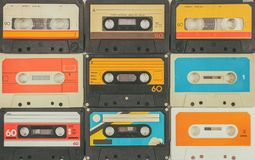 Uitstekende audio compacte cassettes royalty-vrije stock afbeelding
