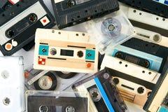 Uitstekende audiocassetteband Stock Foto's