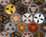 Uitstekende audiocassettesachtergrond Stock Foto's