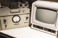 Uitstekende Audiocomponenten en Computermonitor Royalty-vrije Stock Foto