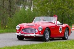 Uitstekende auto Austin Healey 3000 MK1 vanaf 1960 Royalty-vrije Stock Afbeeldingen