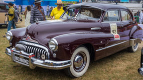 Uitstekende auto Buick Acht 1958 op vertoning bij de Verzameling van de Staatsman Uitstekende Auto Royalty-vrije Stock Afbeeldingen