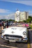 Uitstekende auto's in Havana Royalty-vrije Stock Afbeeldingen