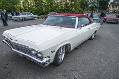 Uitstekende auto, van de chevroletimpala van 1965 ss 396 turbo convertibel Stock Afbeelding