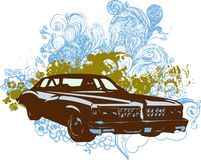 Uitstekende autoillustratie Royalty-vrije Stock Afbeeldingen