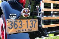 Uitstekende Automobiele Nummerplaat Stock Fotografie