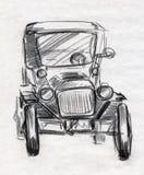 Uitstekende autoschets Royalty-vrije Stock Afbeeldingen