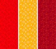 Uitstekende Aziatische bloemen verticale banners Royalty-vrije Stock Fotografie