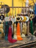 Uitstekende Aziatische Vervaardiging Keychain met Gekleurde Bosjes royalty-vrije stock fotografie
