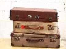 Uitstekende bagage Stock Foto