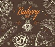 Uitstekende bakkerijreeks Royalty-vrije Stock Foto