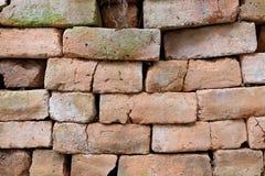 Uitstekende bakstenen muur Stock Afbeeldingen