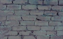 Uitstekende bakstenen muur Royalty-vrije Stock Afbeeldingen