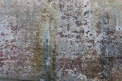 Uitstekende bakstenen muur met schilverf Stock Foto