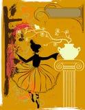 Uitstekende ballerina Royalty-vrije Stock Fotografie