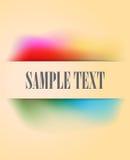 Uitstekende banner met multicolored gradiënt van de pastelkleurregenboog Royalty-vrije Stock Afbeelding
