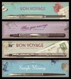 Uitstekende banners Stock Foto