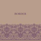 Uitstekende barokke grens Stock Foto