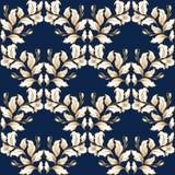Uitstekende barokke patroon naadloze vector op de klassieke achtergrond van de bloem grafische stijl voor achtergrond, malplaatje royalty-vrije illustratie