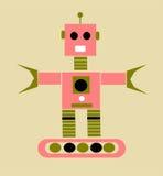 Uitstekende beeldverhaalrobot royalty-vrije illustratie