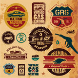 Uitstekende benzineetiketten Stock Fotografie