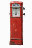 Uitstekende Benzinepomp op Wit Royalty-vrije Stock Fotografie