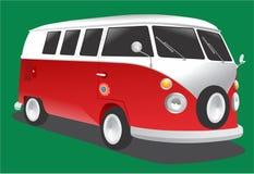 Uitstekende bestelwagen vector illustratie