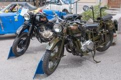 Uitstekende Bianchi motorfiets stock afbeelding