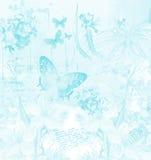 Uitstekende blauwe achtergrond Stock Foto