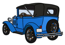 Uitstekende blauwe cabriolet Royalty-vrije Stock Foto